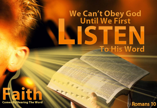 Listen to His Word